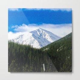 Snow-Capped Metal Print