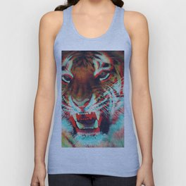Abstract Techno Tiger Unisex Tank Top