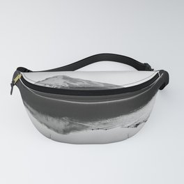 Wild Mountain Sunrise - Black and White Nature Photography Fanny Pack