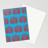 I Still Shoot Film Holga Logo - Blue & Red Stationery Cards