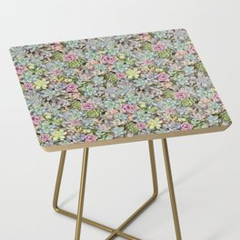 Succulent Pastel Side Table