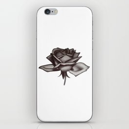 Black and White Rose in Ink iPhone Skin