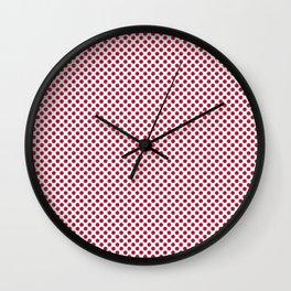 Lipstick Red Polka Dots Wall Clock