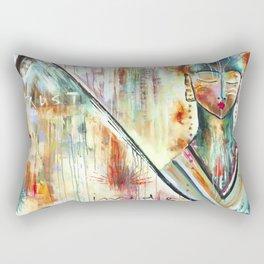 """Trust Inside"" Original Painting by Flora Bowley Rectangular Pillow"