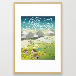 Whimsical Sheep Framed Art Print