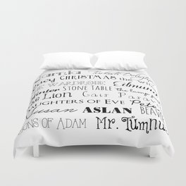 Narnia Words - Square Duvet Cover