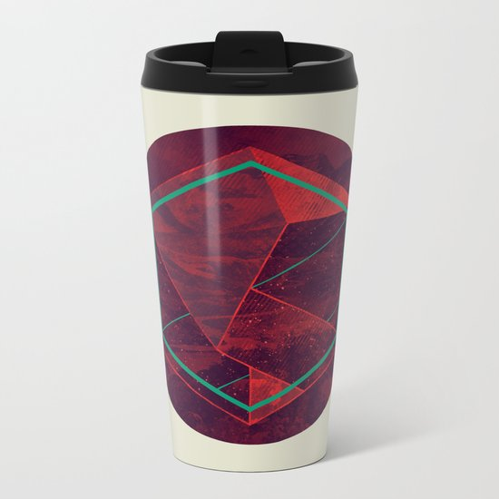 Thinking of a Foreign Girl Metal Travel Mug