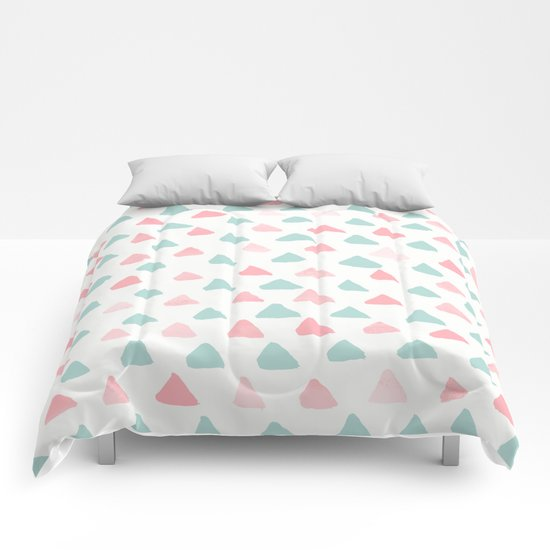 pastel triangles 2 Comforters