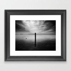 Lake and Swan. Landscape Photography. Framed Art Print