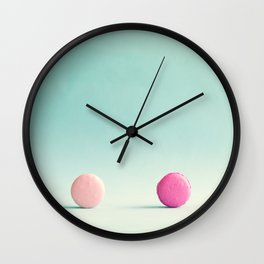 Macarons, macaroons, minimalist, pop art Wall Clock