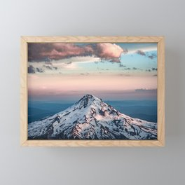 Mountain Sunset - Nature Photography Framed Mini Art Print
