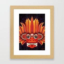 Sri Lankan Fire Demon Framed Art Print