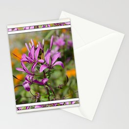 PASTEL PURPLE FLOWER  Stationery Cards