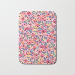 Little Peachy Poppy Garden Bath Mat