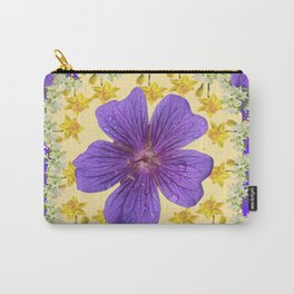 PANTENE ULTRA VIOLET PURPLE FLOWERS ART DESIGN Carry-All Pouch