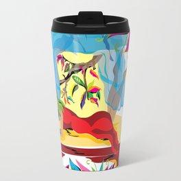 """Garden of Dreams"" Paulette Lust's contemporary, original, colorful, whimsical, art. Travel Mug"