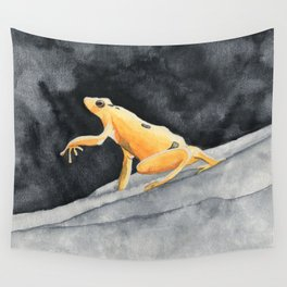 Golden frog Wall Tapestry