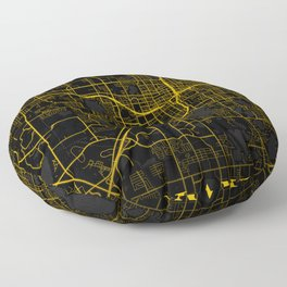 Orlando - United States Gold City Map Floor Pillow
