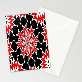 Bizarre Red Black and White Pattern 2 Stationery Cards
