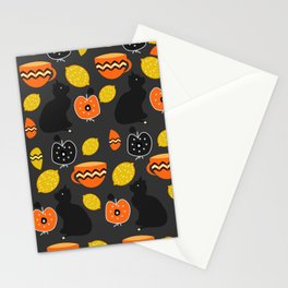 Cats, lemons and teacups Stationery Cards