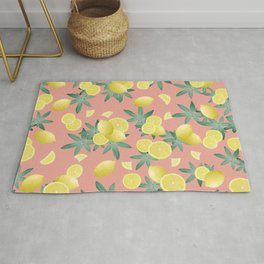 Lemon Twist Vibes #2 #tropical #fruit #decor #art #society6 Rug
