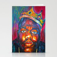 biggie smalls Stationery Cards featuring BIGGIE SMALLS by Molly Forster