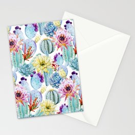 Cactus Pattern 11 Stationery Cards