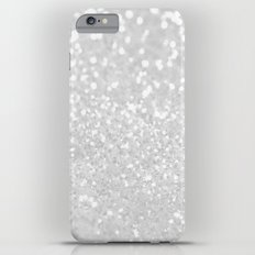 Chic elegant glamour White Faux Glitter  iPhone 6s Plus Slim Case