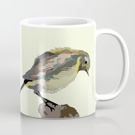 Colourful Bird painted with Mixed Techniques. By Pablo Teresa. Coffee Mug