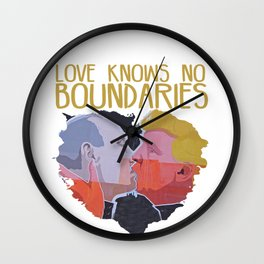 Love knows no boundaries Wall Clock