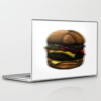 hamburger Laptop & iPad Skins featuring Hungry Hamburger. by pexkung