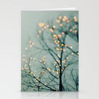 the lights Stationery Cards featuring Lights  by Laura Ruth