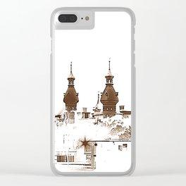 U of Tampa. Sepia. Clear iPhone Case