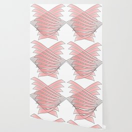 Abstract intersections gradient red - vector Wallpaper