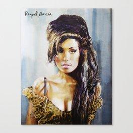 Winehouse Portrait 3 Canvas Print