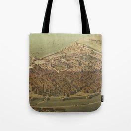 Vintage Pictorial Map of Veracruz Mexico (1869) Tote Bag
