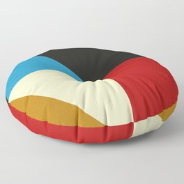Mid Century Geometric F Floor Pillow