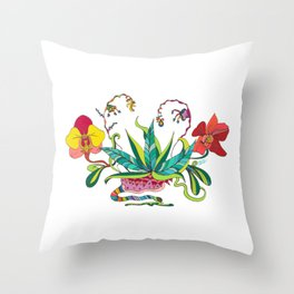"""""""Orchids Galactic"""" Throw Pillow"""