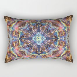 Cosmic Flower Mandala Rectangular Pillow