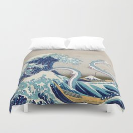 Haku and the Great Wave Duvet Cover