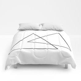 Double Triangles Comforters