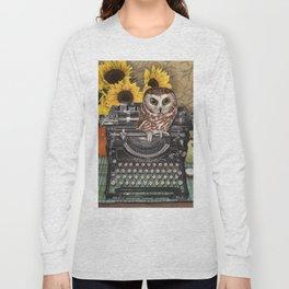 Office Owl Long Sleeve T-shirt