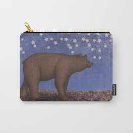 brown bear on a starlit stroll Carry-All Pouch