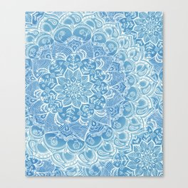 Blueberry Lace Canvas Print