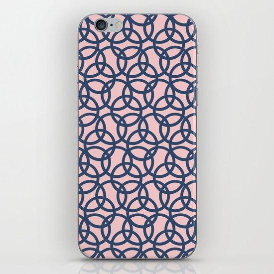 Olympic Navy on Blush iPhone Skin