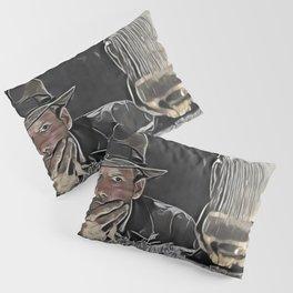 Indiana Jones Surprised Mistery Damned Hidden Treasure Action Pillow Sham