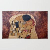 klimt Area & Throw Rugs featuring Klimt copy by Elisa Gandolfo