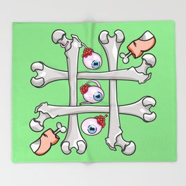 Halloween Tic Tac Toe Throw Blanket