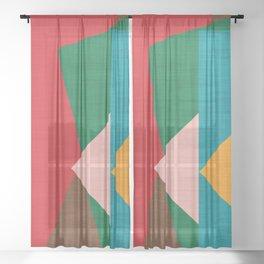 Kilim flower Sheer Curtain