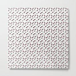 Chocolate and Raspberry heart pattern Metal Print